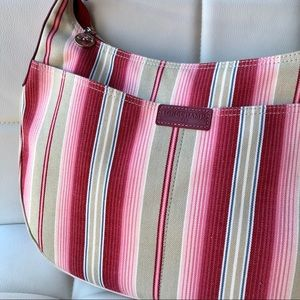 NWOT Longchamp Stripe Shoulder Bag